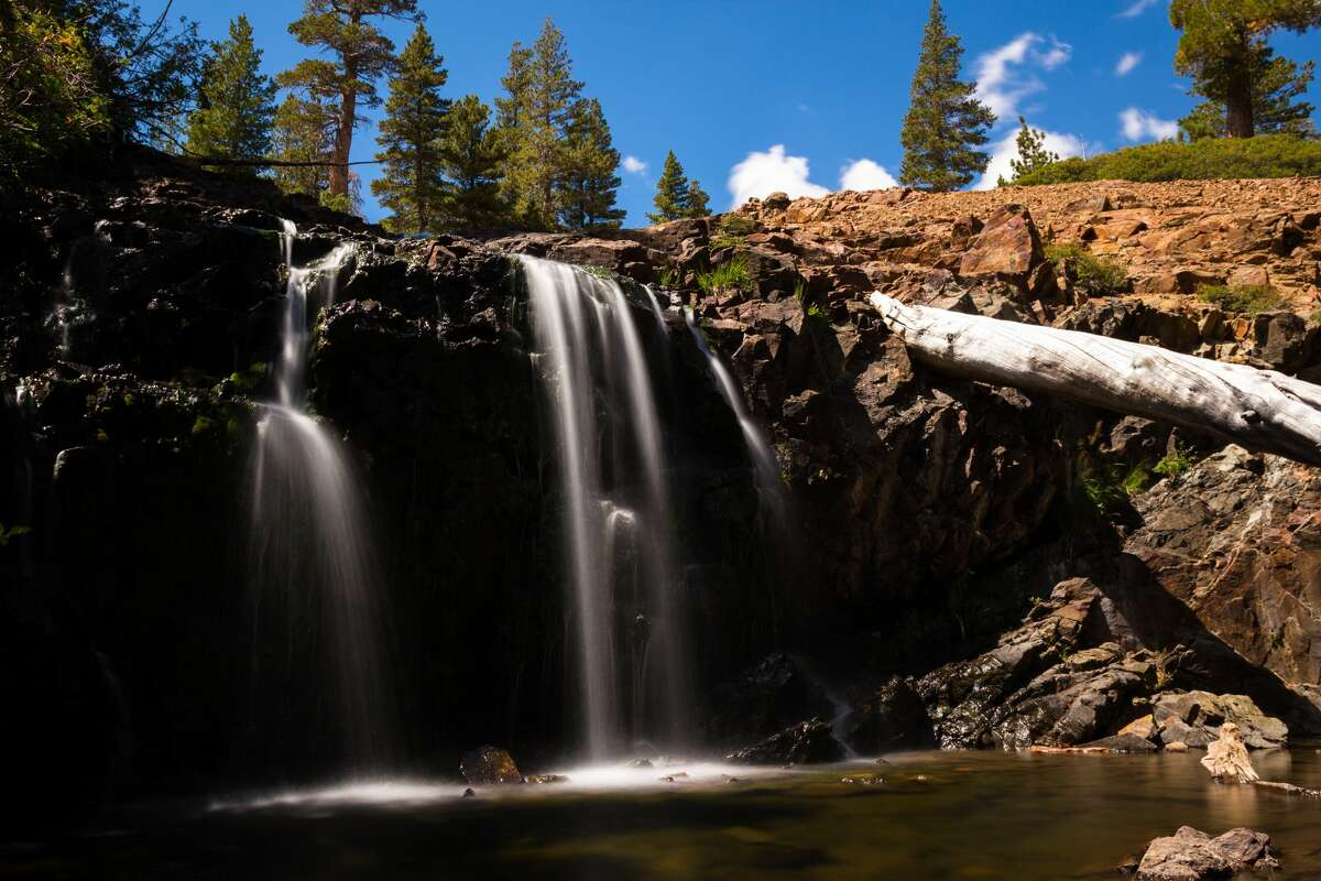 Susie Lake Falls in the Lake Tahoe area.