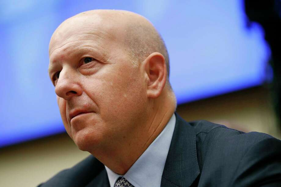 """FILE - In this April 10, 2019, file photo, Goldman Sachs chairman and CEO David Solomon testifies before the House Financial Services Commitee during a hearing in Washington. Goldman Sachs said its first quarter earnings fell by 21% from a year earlier, hurt by a slowdown in trading. Solomon described the quarter as a """"muted start to the year,"""" in a written statement. (AP Photo/Patrick Semansky, File) Photo: Patrick Semansky / Copyright 2019 The Associated Press. All rights reserved."""