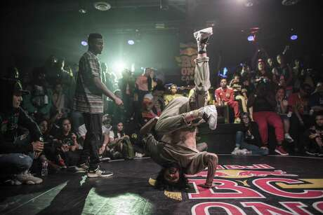 The scene at last year's Red Bull's breakdancing competition and camp, BC One.