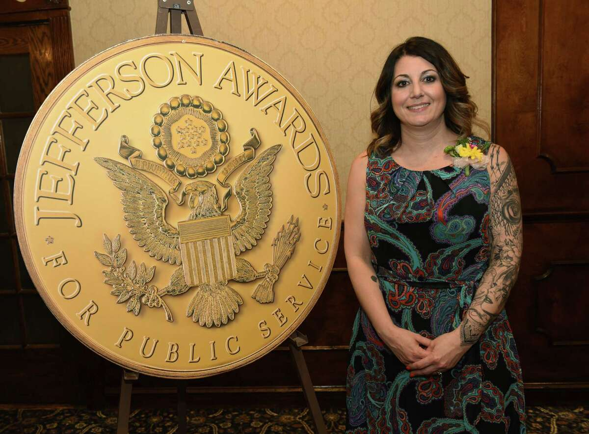 Renee Fahey poses for a photo during the annual Jefferson Awards event at the Century House on Monday, April 15, 2019 in Latham, N.Y.Fahey will be representing the Capital Region in the national ceremony in Washington, DC. (Lori Van Buren/Times Union)