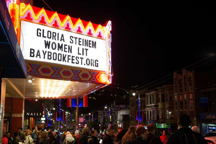 Gloria Steinem appeared with Women Lit at the Castro Theatre in February. Photo: Bay Area Book Festival