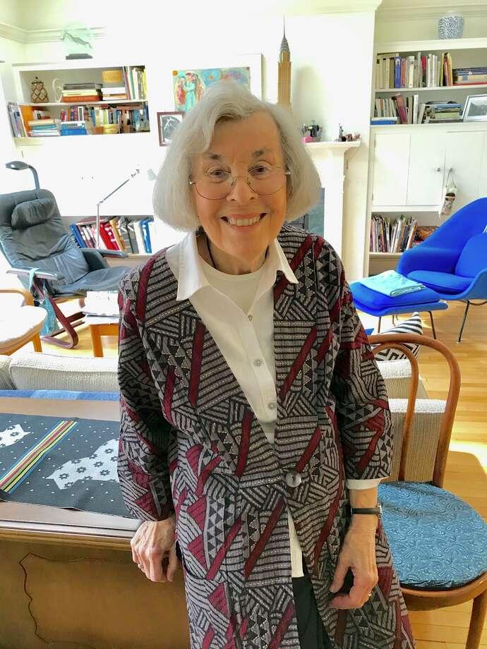 Fiber artist Estelle Kessler Yarinsky in her cottage in the Beverwyck retirement community. Photo: Paul Grondahl / Times Union