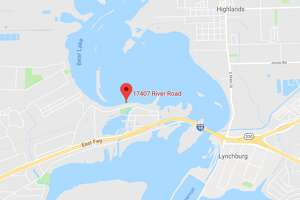 A body was found at this location in the San Jacinto River on Monday afternoon, police said. The cause of death has not been determined, but the body was found with multiple injuries.