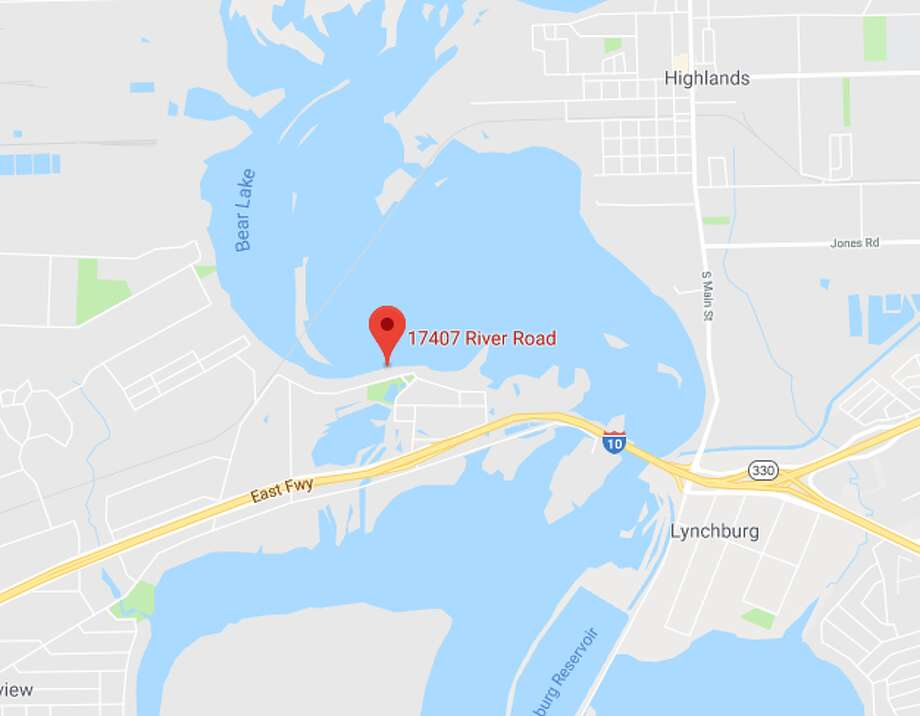 A body was found at this location in the San Jacinto River on Monday afternoon, police said. The cause of death has not been determined, but the body was found with multiple injuries. Photo: Google Maps