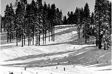 The deck at Badger Pass Ski Area at Yosemite in 1939.