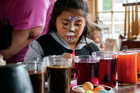 Despite the rainy weather, the Easter Bunny brought more than 1,000 eggs to the 1820 Col. Benjamin Stephenson House on Saturday. The house also welcomed everyone to learn how naturally dye eggs, get their faces painted and play games.