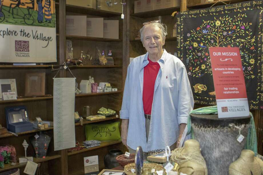 Rev. Wayne Ivey stands inside the First Christian Church fair trade market Chalice Abbey on Wednesday, April 10, 2019 in Conroe. The market features items from all around the world and promotes fair trade with small villages and disadvataged artisans. Photo: Cody Bahn, Houston Chronicle / Staff Photographer / © 2018 Houston Chronicle