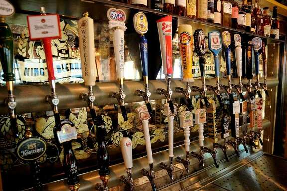 The League City restaurant will feature rows of taps similar to these at King's BierHaus in Houston.
