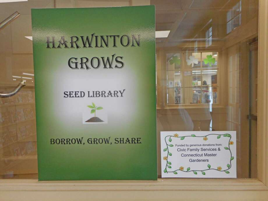 Harwinton's seed library is a community effort: borrowers contribute harvested seeds back to the library. Photo: Harwinton Public Library / Contributed Photo