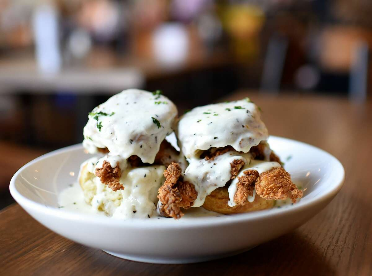 Dish Society chicken and biscuits.