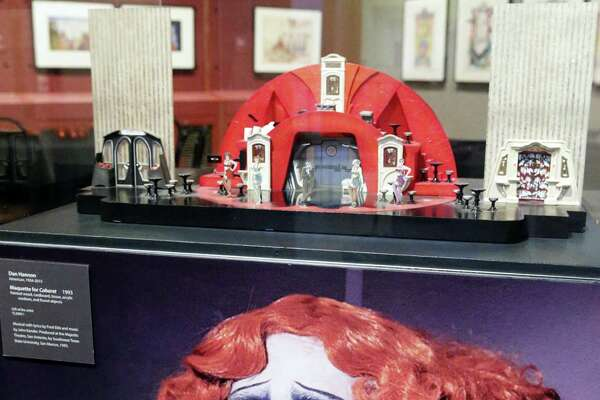 """Dan Hannon designed the set for a 1993 production of """"Cabaret."""" The maquette he created is part of """"America on Stage,"""" a new exhibit at the McNay Art Museum."""