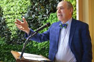 Community Health Center CEO and President Mark Masselli thanks all those who made the new Information & Technology Center building on Grand Street a success Tuesday morning in Middletown. The facility will house the organization's state and national workforce development, telehealth and education programs.