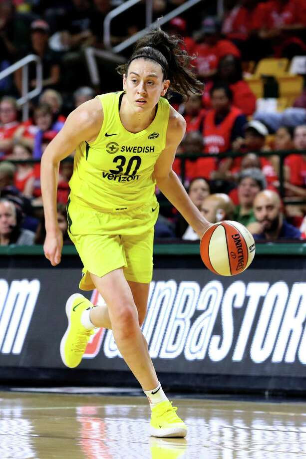 Seattle's Breanna Stewart tore her Achilles' tendon in a EuroLeague game on Sunday and will undergo surgery. Photo: Rob Carr / Getty Images / 2018 Getty Images 2018 Getty Images