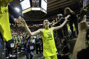 Seattle's Breanna Stewart tore her Achilles' tendon in a EuroLeague game on Sunday and will undergo surgery.