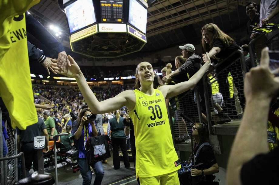 Seattle's Breanna Stewart tore her Achilles' tendon in a EuroLeague game on Sunday and will undergo surgery. Photo: Lindsey Wasson / Getty Images / 2018 Lindsey Wasson 2018 Lindsey Wasson