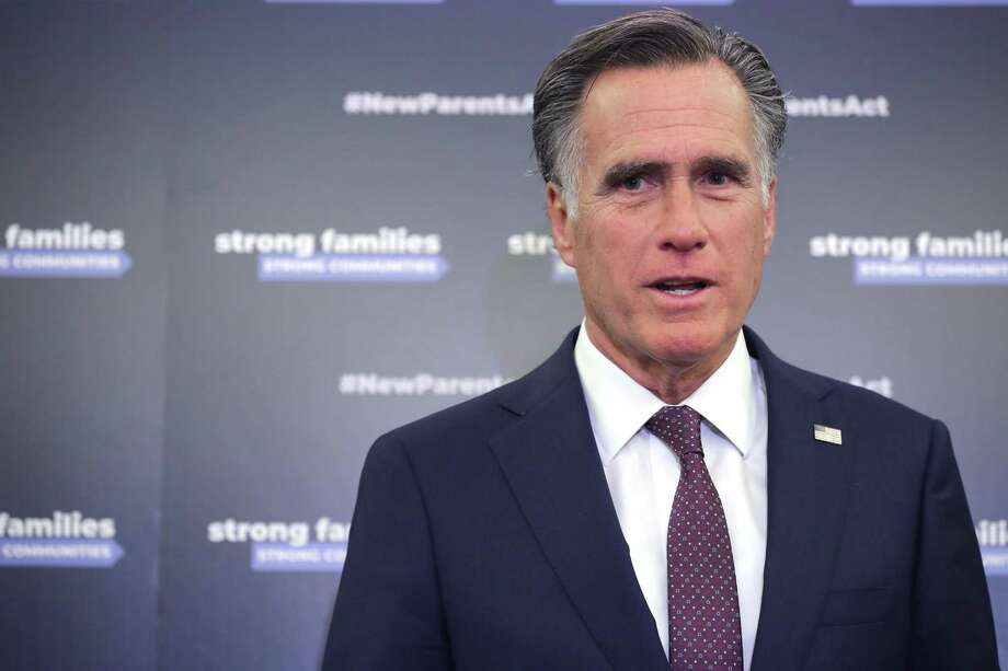 Sen. Mitt Romney of Utah forgets his own family history when it comes to his views today on refugees. Photo: Chip Somodevilla /Getty Images / 2019 Getty Images