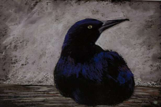 """The Kent Art Association has announced the winners of its spring juried show, which will run through May 12. Cheryl L. Moore of Kent was presented the Award for Pastel for """"Crow,"""" above."""
