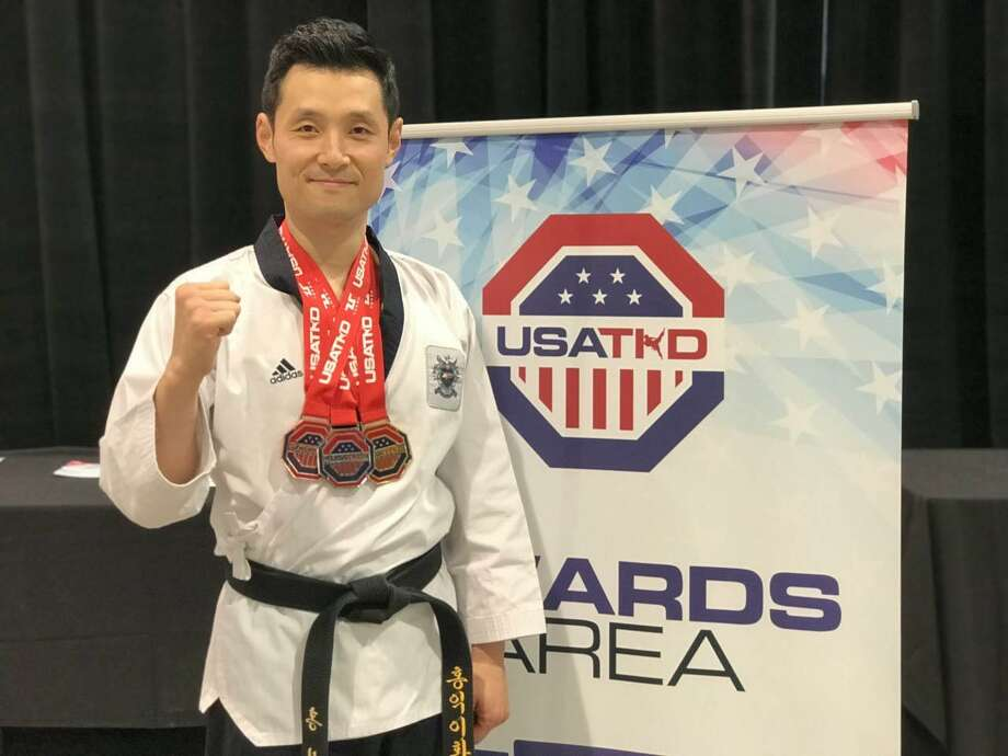 Master Seongho Hong of Hong's Olympic Taekwondo Academy in New Milford recently earned three medals at the US Open Taekwondo Championships. Photo: Master Seongho Hong / Contributed Photo / The News-Times Contributed