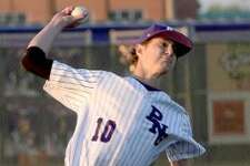 Port Neches-Groves' Grant Rogers threw six strong innings to help his team get the win over Barbers Hill on Tuesday night.Photo taken Tuesday, March 19, 2019 Kim Brent/The Enterprise