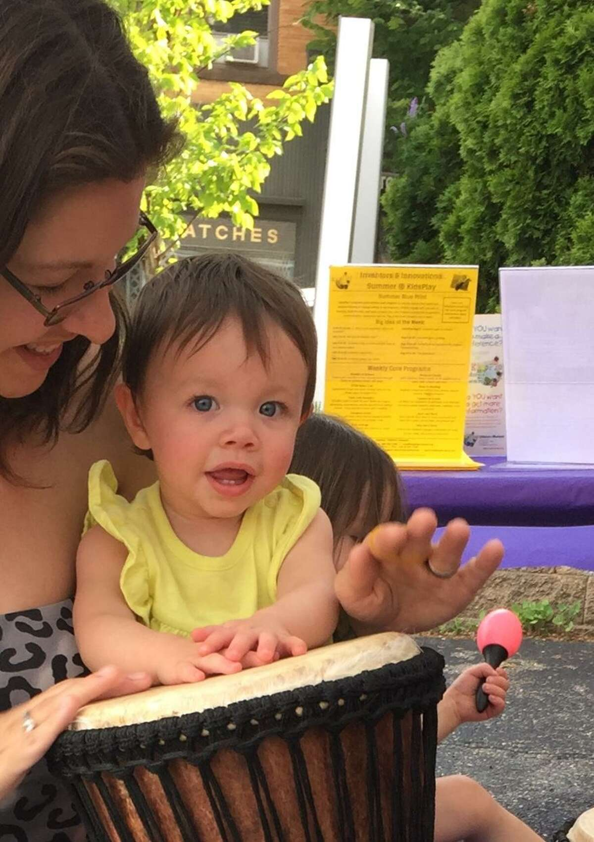 Make Music Day 2019 returns to Torrington and area communities the weekend of June 21. Participants and facilitators to run events and programs are needed. Above, a mother and child take part in a drumming exercise in 2018.