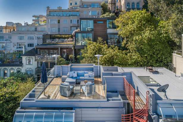 On a sylvan pedestrian lane with magical views is 14 Macondray, asking $4.375M