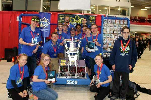 The Midland High School FIRST robotics team 5509 'Like a Boss' competea in Michigan's FIRST Robotics State Championship at Saginaw Valley State University. (Photo provided)
