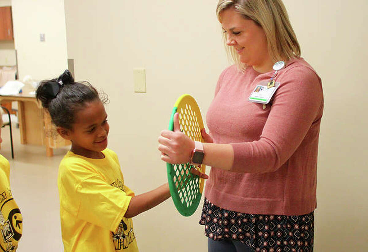 Students from Lincoln Elementary School visited Passavant Area Hospital Tuesday for the Auxiliary's Mini-Medical Days. Twice a year, hundreds of area students tour the hospital as part of the program.