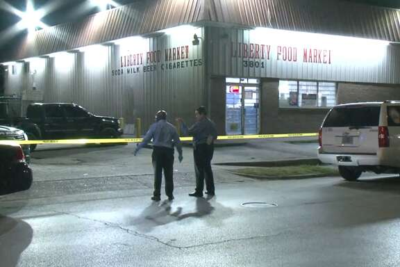 A suspect beat a man to death with a stick late Tuesday at a northeast Houston food store, according to police. The man has not yet been charged.