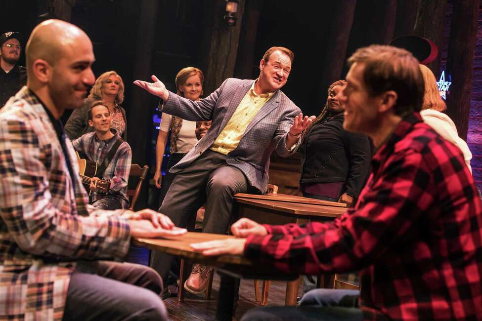 From left, Nick Duckart, Kevin Carolan, Andrew Samonsky and company in the first national tour of