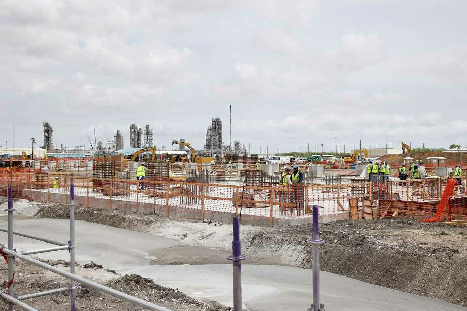 A view of the new construction during a plant tour at at LyondellBasell's petrochemical plant in Pasadena, TX on Tuesday, April 16, 2019. Photo: Tim Warner, Houston Chronicle / Contributor / ©Houston Chronicle