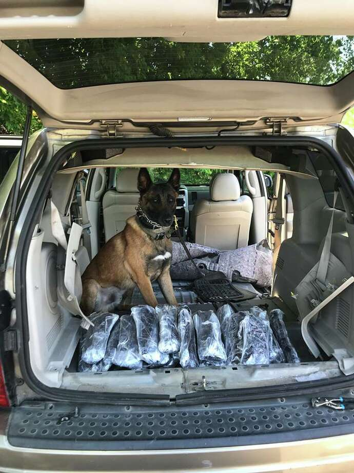 K9 Rocket found about $945,000 in methamphetamine during a traffic stop on April 14, 2019. Photo: Bexar County Sheriff's Office