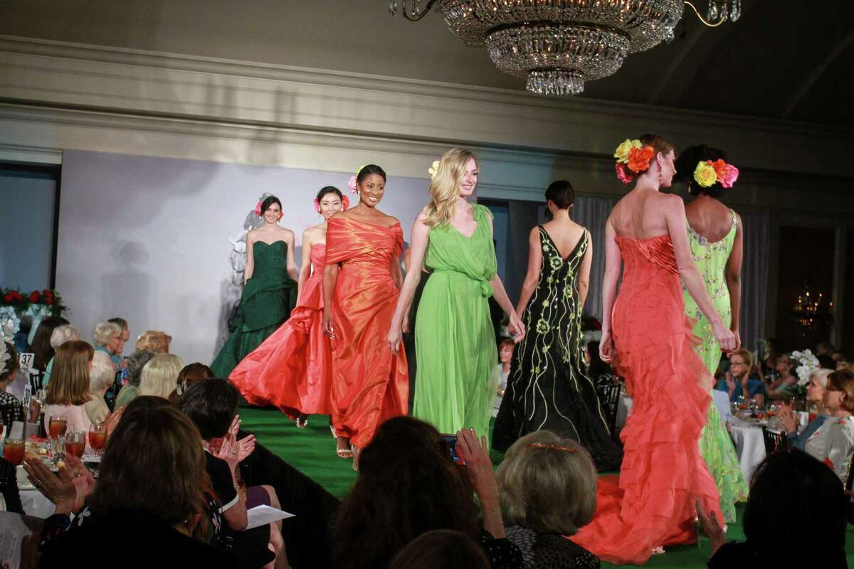 The runway show at the Salvation Army luncheon.