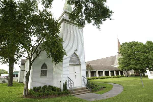 The chapel built in 1864 at the St. Peter United, 9022 Long Point, is shown Tuesday, April 16, 2019, in Houston.