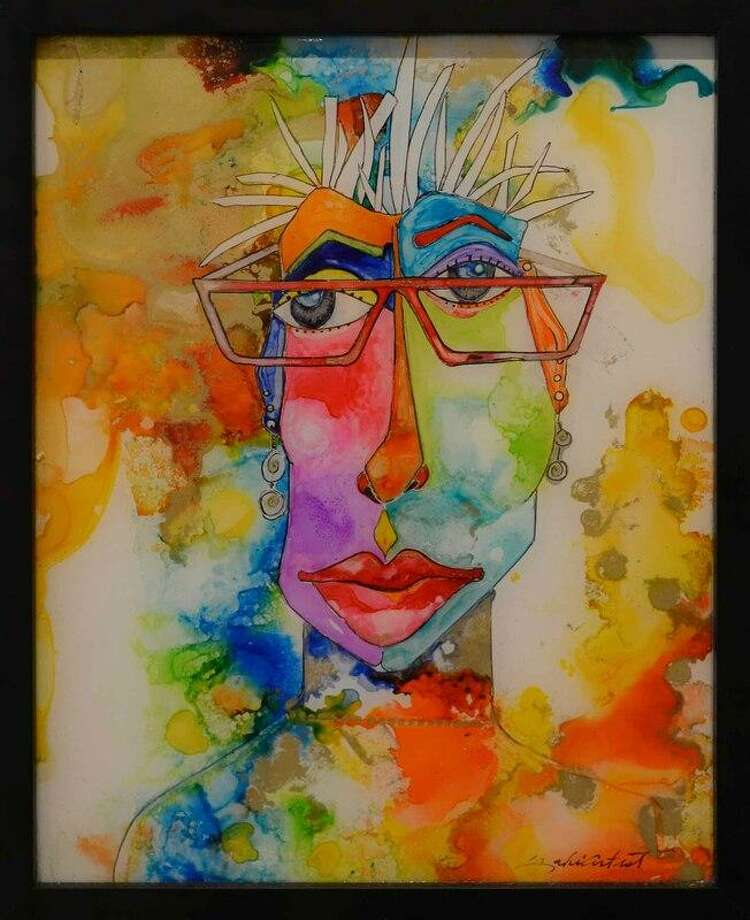 """A painting by award-winning painter Brenda McDougall titled """"Selfie,"""" which is on display at the Gallery at the Madeley Building throughout the month of April. Photo: Courtesy Photo"""