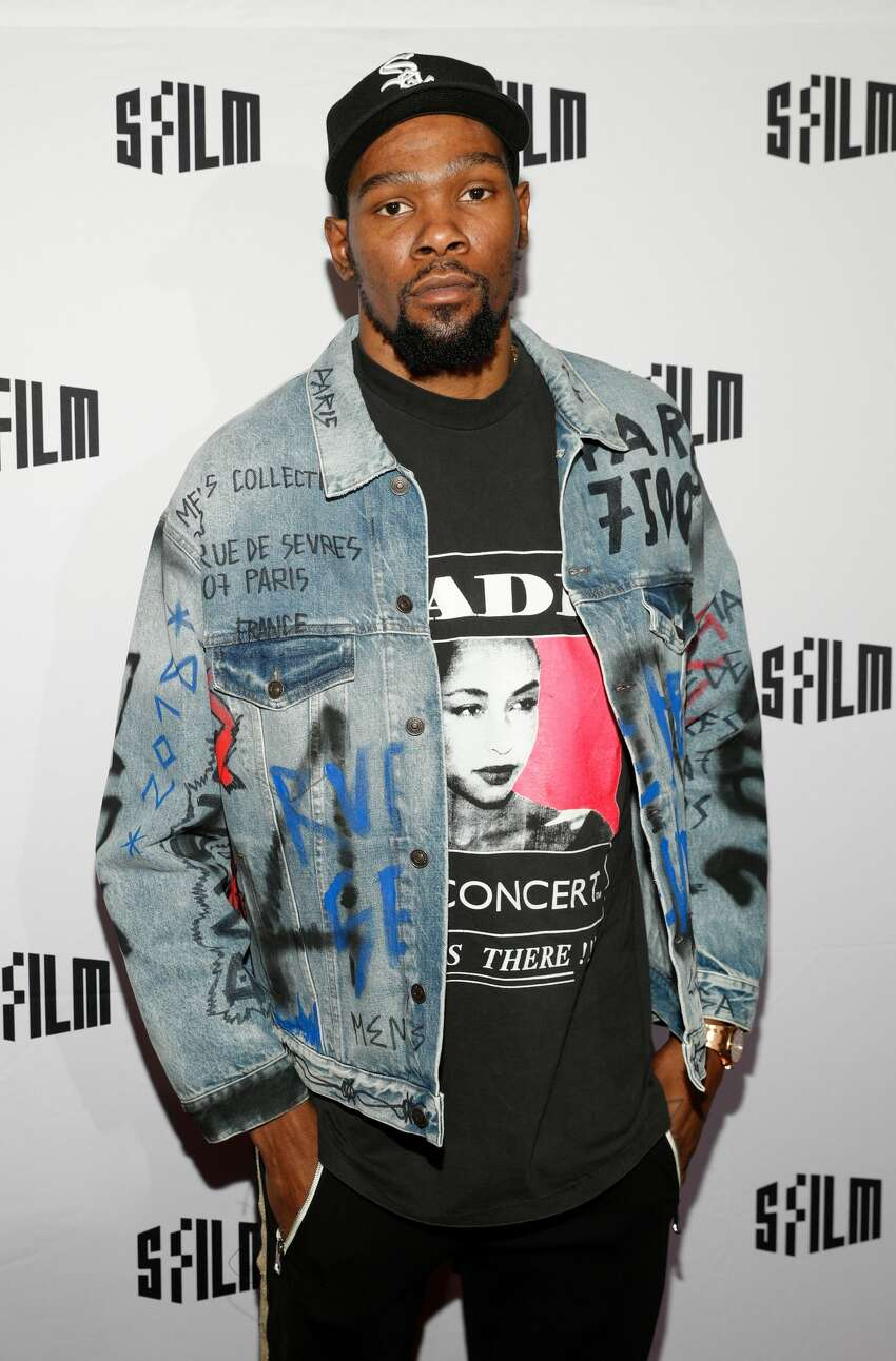 Kevin Durant attends SFFILM Festival 2019 Red Carpet Arrivals for 'Q Ball' on April 11th 2019 at Castro Theatre in San Francisco, CA (Photo - Drew Altizer)