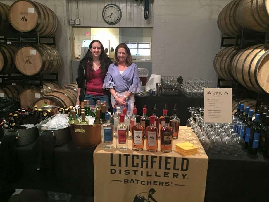 Spring Spirits, a fundraiser for the Litchfield Jazz Camp, will be again hosted by the Litchfield Distillery. Above, distillery staff greet guests at last year's event. Photo: Contributed Photo