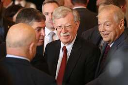 National Security Advisor John R. Bolton arrives to speak during the Bay of Pigs Veterans Association luncheon at the Biltmore Hotel on April 17, 2019 in Coral Gables, Florida. Mr. Bolton is scheduled to speak about the steps being taken by the Trump Administration to confront security threats related to Cuba, Venezuela, and the democratic crisis in Nicaragua. (Photo by Joe Raedle/Getty Images)