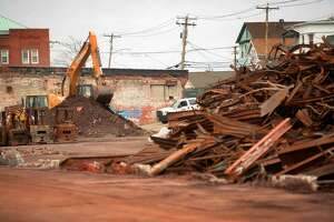 Clean up nears completion on Thursday, April 28, 2016 at the site of a chemical fire that demolished a warehouse on Seaview Avenue in Bridgeport, Conn. on September 11, 2014.
