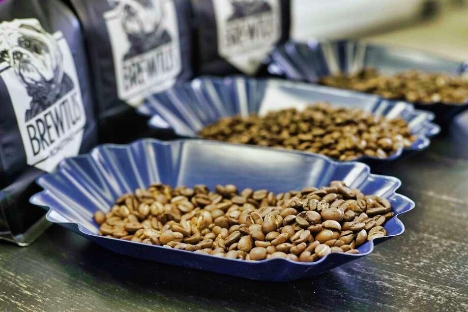 From left to right, espresso blend coffee beans, Burundi coffee beans, and Ethiopia Yirgacheffe coffee beans, at Brewtus Roasting on Monday, April 15, 2019, in Delmar, N.Y.  (Paul Buckowski/Times Union) Photo: Paul Buckowski / (Paul Buckowski/Times Union)