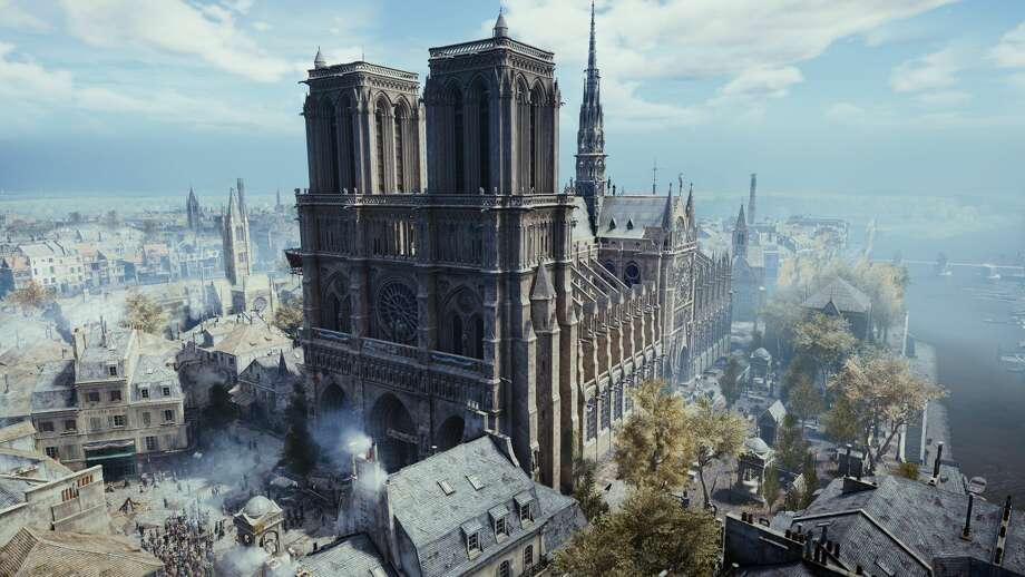 "The Notre Dame Cathedral, as depicted in the video game ""Assassin's Creed Unity."" Photo: Ubisoft"