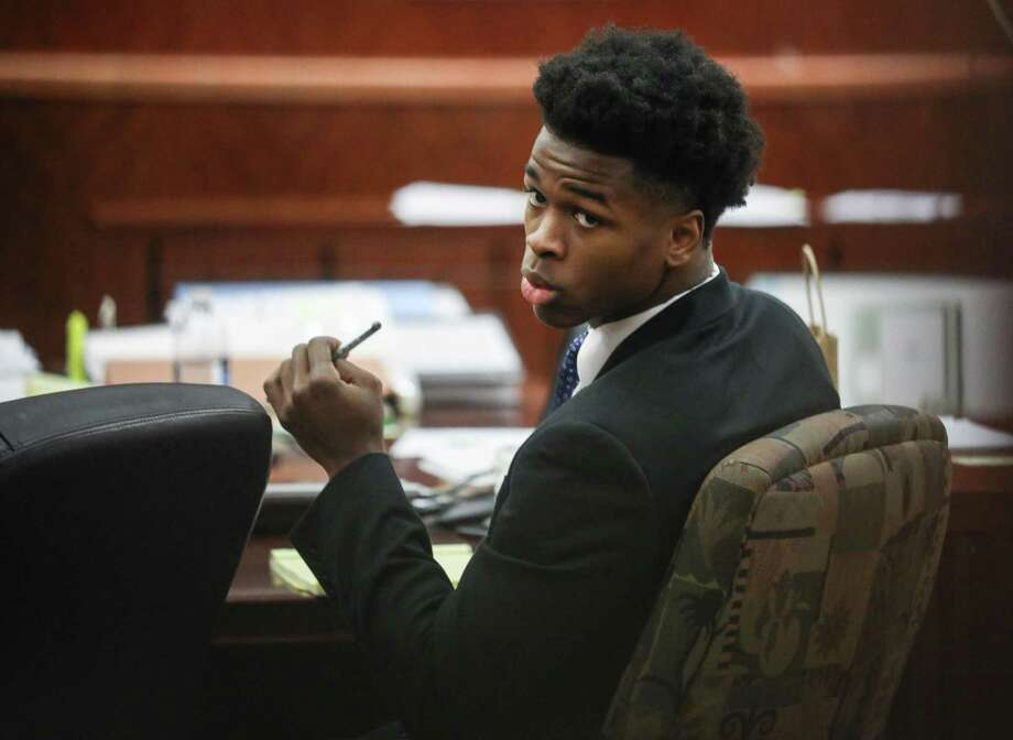 Antonio Armstrong, Jr., who faces capital murder charges for the deaths of his parents, is seen in the 178th District Criminal Court on Tuesday, April 9, 2019, in Houston. Photo: Jon Shapley, Houston Chronicle / Staff Photographer / © 2019 Houston Chronicle