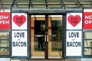 For the Love of Bacon, a retail outlet affiliated with Mariaville Farm in Mariaville, opened in Rotterdam in April 2019.