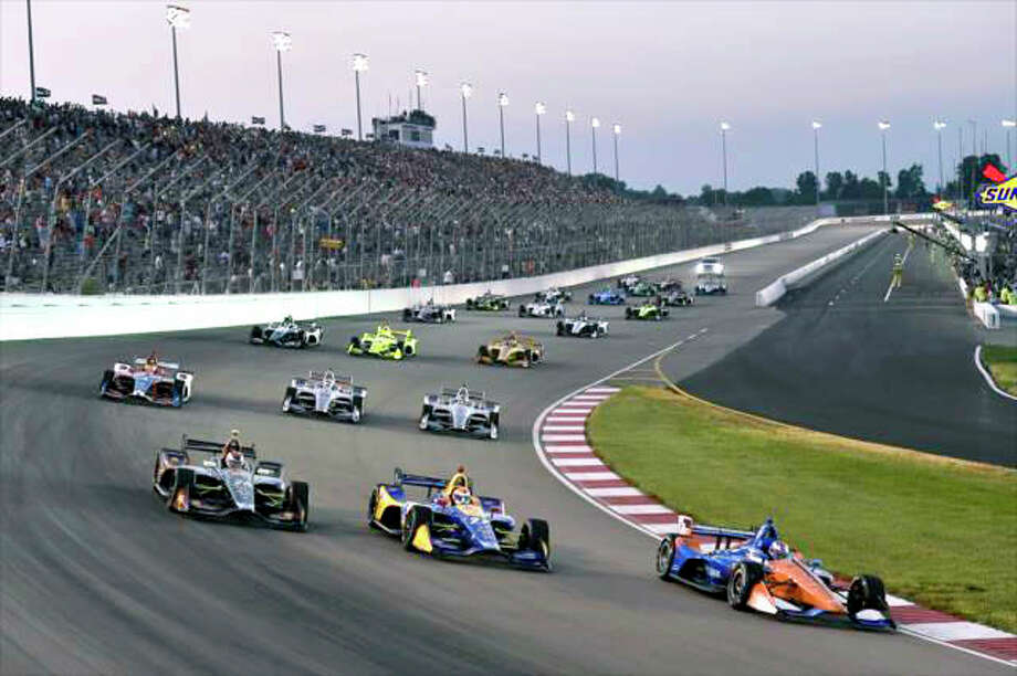 Gateway Motorsports Park in Madison will be renamed World Wide Technology Raceway at Gateway. It was announced Wednesday the WWT, a St. Louis-based company, has purchased the naming rights for the auto racing track. Pictured is a previous IndyCar race at the track. Photo: File Photo