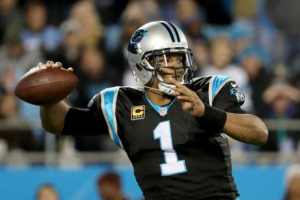 CHARLOTTE, NC - DECEMBER 17: Cam Newton #1 of the Carolina Panthers drops back to pass against the New Orleans Saints in the first quarter during their game at Bank of America Stadium on December 17, 2018 in Charlotte, North Carolina. (Photo by Streeter Lecka/Getty Images)