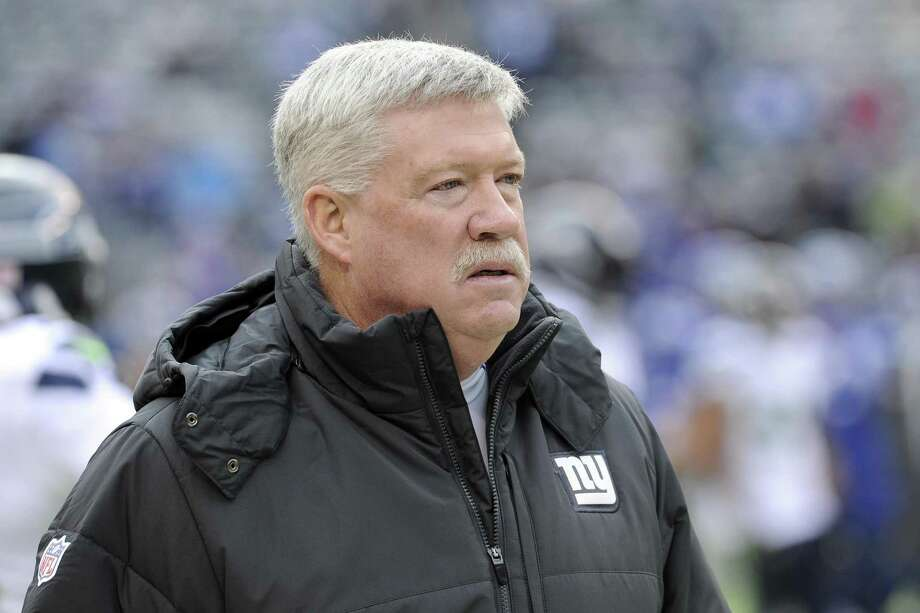 Former New York Giants offensive coordinator Kevin Gilbride looks on before an NFL football game against the Seattle Seahawks, Sunday, Dec. 15, 2013, in East Rutherford, N.J. Photo: Bill Kostroun / Associated Press / FR51951 AP