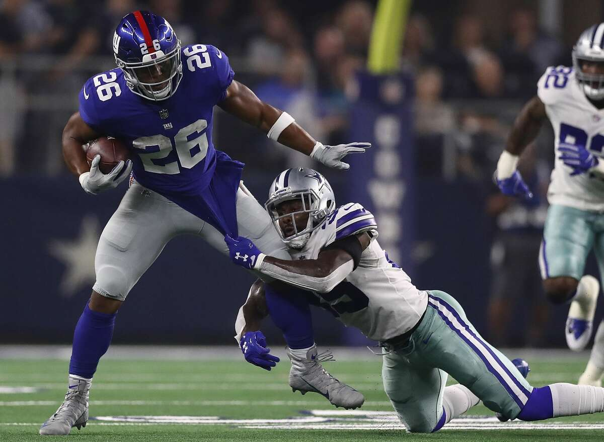RUNNING BACK: SAQUON BARKLEY (NEW YORK GIANTS) Age: 22 (2/9/97)