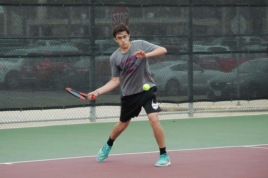Dawson's Divyan Bansal competes in boys' singles Wednesday at the Region III-6A tournament at Deer Park High School. Photo: Kirk Sides / Staff Photographer / © 2019 Kirk Sides / Houston Chronicle