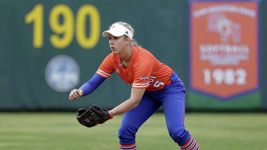 Sam Houston State's Tiffany Thompson during an NCAA softball game against Houston Baptist last month in Huntsville. Photo: Michael Wyke, FRE / Associated Press / Copyright 2019 The Associated Press. All rights reserved.