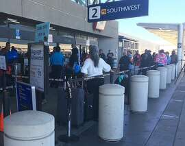 The Southwest Airlines terminal at Oakland International Airport. The Bay Area's cost of living is forcing more workers here to the most extreme of commutes - by plane.