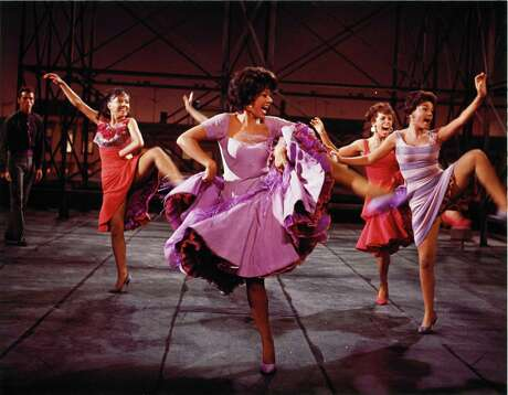"Rita Moreno (center) won an Oscar for the 1961 film version of ""West Side Story."""